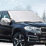 Big Ant Frontscheibenabdeckung Winter Auto Scheibenabdeckung Windschutzscheibe Abdeckung Faltbare Auto Abdeckung für Windschutzscheibe gegen Schnee EIS Frost Staub für SUV, LKW Jeep (158 X 108cm)