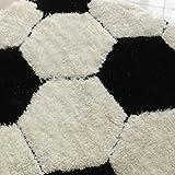 L&WB Fußball-Teppich, Junge Kind Zimmer Rutschfeste Runde Teppich, Computer Stuhlkorb Teppich,120Cm
