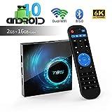 T95 Android 10.0 TV Box, Allwinner H616 Quadcore 2 GB RAM 16 GB ROM Mali-G31 MP2-GPU-Unterstützung 6K 3D 1080P 2.4/5.0 GHz WiFi 10 /100M Ethernet BT5.0 DLNA HDMI 2.0 H.265 Smart TV Box [2020 Neueste]