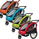 Veelar Sports 2 in 1 Kinderanhänger Fahrradanhänger Anhänger mit Buggy Set Jogger BT502-D04 orange