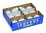 Cereria di Giorgio - Risthò - Kugelkerzen aus Wachs, Weiß, 4,5x 4,5x 4,5cm, 12Stück
