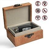 MONOJOY Keyless Go Schutz Autoschlüssel Box Retro Autoschlüsselbox Schlüsselgarage Schutzhülle Schlüsseltasche für Auto und Motorrad NFC, RFID Entry Safe Case für Auto Schlüssel