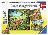 Ravensburger Kinderpuzzle 09330 - Tiere der Erde - 3 x 49 Teile