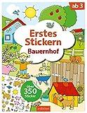Erstes Stickern Bauernhof: Über 350 Sticker | Erstes Stickerheft für Bauernhof-Fans ab 3 Jahren
