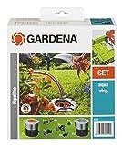Gardena Start-Set für Garten-Pipeline: Witterungsbeständige Wassersteckdosen, frostsicher mit Wasserstop, dauerhaft installiert, Starter Set mit zwei Wasserentnahmestellen (8255-20)
