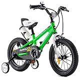 Royal Baby Kinderfahrrad Jungen Mädchen Freestyle BMX Fahrrad Stützräder Laufrad Kinder Fahrrad 18 Zoll Grün