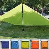 Camping-Plane, Sonnenschutz, wasserdicht, ultraleicht, Vordach für Wandern, Angeln, Picknick, Strandzelt, Camping-Kissen, Notunterkunft Free Size blau