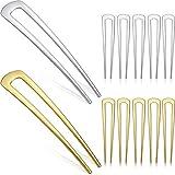 12 Stück Metall U Form Haarnadel Haarspange Gabel Metall Chignon Pins Haarspangen für Frauen Mädchen Frisur Zubehör