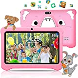 Kinder Tablet Kids Edition-Tablet 7-Zoll-HD-Display Toddler Tablet Mit 3 GB + 32 GB, 128 GB Erweiterbare, Android 9.0, WiFi, Doppelkamera, Kindersicherung,Kinderspiele, Kindersicherung Kindertablet