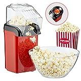 Popcornmaschine'Poppy' Popcorn Maker für Zuhause   leistungsstarke fettfreie schnelle Zubereitung mit Heißluft   1200W   inkl Messbecher