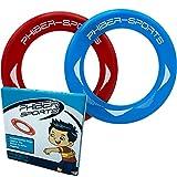 PHIBER-SPORTS Frisbee-Ringe – 2er Doppelpack Premium Wurfringe – 80% Leichter als Standard Frisbee Scheiben - Einfach zu fangen – Perfekte Flugbahn - Ideal für Kinder und Erwachsene