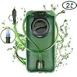 WADEO Wasserblase 2L Rucksack Trinksystem Trinkbeutel mit Schlauch Für Laufen Joggen Schlauch Radsport Motorrad BPA Frei Auslaufsicher Für den Außenbereich