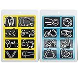 AiYoYo 16 Stück Knobelspiele für Erwachsene und Kinder Geduldspiele IQ-Spiele Set 3D Brainteaser Metall Puzzle Spiele Spielzeug Geschenk für Weihnachten,Ostern, Geburtstag