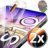 UTECTION 2X Schutzfolie für Samsung Galaxy S10 (6.1') - Fingerabdruck kompatibel - Premium Folie KEIN Glas - Hüllenfreundlich - Anti Kratzer Displayschutzfolie HD Ultra Clear - Schutz Displayfolie