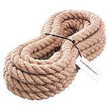 Seilwerk STANKE Juteseil Naturfasern gedreht Tauwerk Hanf Jute Tau Seil Tauziehen Absperrseil Handlauf 16mm 5m