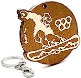 LIKY Snowboard - Original Schlüsselanhänger aus Holz Gravur Geschenk Damen Herren Geburtstag Hobby Schmuck Anhänger Tasche Rucksack
