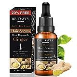 DR.DAVEY Haarwachstum Serum für Anti-Haarausfall und Haarwuchs Ingwer-Haarwuchsöl für Ausdünnung/Reparieren von Haarfollikeln/stärkeren Haarwuchsbehandlung Haarwuchsmittel für Männer und Frauen