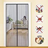 MYCARBON Magnet Fliegengitter Tür 100x220cm Insektenschutz Balkontür Fliegenvorhang | 10 x Stärker als Normales Fliegengitter - ohne Bohren - Vorhang für Balkontür Wohnzimmer Schiebetür Terrassentür