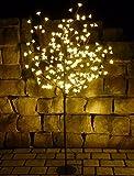 LED BAUM XXL mit 180 BLÜTEN in WARMWEISS Höhe 150cm für AUSSEN oder INNEN