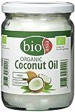 BIOASIA Bio Kokosöl, kaltgepresst, naturbelassen ohne Zusatzstoffe, veganes Fett zum Kochen, Braten & Backen, auch als Naturkosmetik verwendbar, 100 % Bio, 500 ml