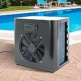 ML-Design Mini Wärmepumpe für Pools bis 20.000l Wasserinhalt Heizleistung 4kW Betriebsspannung 220V Wasseranschluss Ø32/38mm Schwarz Digitalanzeige Titan Wärmetauscher Poolheizung Schwimmbadheizung