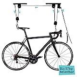 Fahrradlift mit Deckenhalterung - Absolut Sicher, Platzsparend, Einfache Montage - Extrem Stabile Fahrradhalterung - Bis 57kg belastbar - Fahrradaufhängung für Garage und Keller von BEMS Meisterwerk…