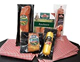 Wurstpaket Geschenk   Schinken Salami Set   Lende geräuchert Leberwurst Preiselbeeren   BBQ Rauchwurst Schlemmer Box