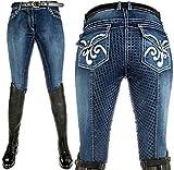 HKM Erwachsene Reithose -Pasadena-Summer Denim Silikon-Vollbesatz6100 jeansblau36 Hose, 6100 jeansblau, 36