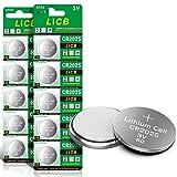 LiCB 10 Stück CR2025 3V Lithium Knopfzellen CR 2025 Batterien