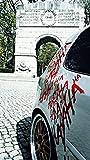 Finest-Folia Grafik Schriftzug Hahaha Groß Joker Batman Aufkleber Sticker Tuning Folie für Auto KX029 (.Karminrot 306)