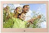 Digitaler Bilderrahmen 10 Zoll HDMI HD Multifunktions Elektronischer Fotorahmen Bewegungsmelder Elektronischer Bilderrahmen Gold