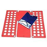 Takit Wäschefaltbrett Rot – 70x59cm – Hemdenfalter – Falthilfe für Hosen, Handtücher, T-Shirts/Wäschefalter