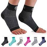 CAMBIVO 2 Paar Sprunggelenkbandage, Knöchelbandage, Fußbandage für Herren und Damen, Plantar Fasciitis Socken gegen Krampfadern, Kompressionssocken für Sport, Fussball, Fitness