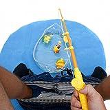 Goods & Gadgets Toiletten WC Angel Set - Das lustige Fischen Angeln Spielzeug Potty Fisher fürs Klo