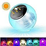 SunTop Wasser Licht Teichlicht Pool-Licht Pool-Beleuchtung Teichbeleuchtung Schwimmende Lampen Solar Schwimmkugel teichbeleuchtung Multifarbige für Blumenvase, Pool, Teich Dekoration