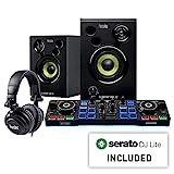 Hercules 4780890 DJing Starter Set mit Serato DJ Lite für PC/Mac, schwarz/weiß