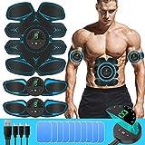 SUNGYIN EMS Muskelstimulator bauchtrainer ABS Trainingsgerät Professionelle USB Elektrostimulation Elektrisch Bauchmuskeltrainer Fitnessgürtel für Damen Herren 8 Pack