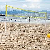 youngfate Volleyballnetz Ständer Für Garten Volleyball-Netz/Badminton-Netz Tennisnetz Tragbar Falten Einstellbar Volleyballnetz Regal Geeignet Für Strand- Und Outdoor-Sportarten Im Hinterhofpark Ohne