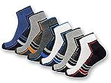 sockenkauf24 6 oder 12 Paar SPORT Sneaker Socken mit Frotteesohle verstärkt Herrensocken Sportsocken - 16215/20 (43-46, 6 Paar   Farbmix)
