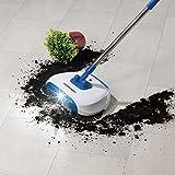 CLEANmaxx Bodenkehrer mit LED-Beleuchtung 4,5V in Blau/Weiß