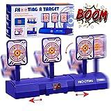 Gafild Zielscheibe für Nerf, Automatisches Zurücksetzen des Elektroschießziels, Elektros Ziel, Automatisches Reduzieren des Nerf-Softbullet-Gun-Spielzeugs mit Soundeffekten und Lichteffekten