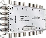 SCHWAIGER -5224- Multischalter 5 - 16 / Verteilt 1 SAT-Signal auf 16 Teilnehmer/SAT-Verteiler/SAT-Splitter mit externem Netzteil/digital Multiswitch/in Kombination mit einem Quattro LNB