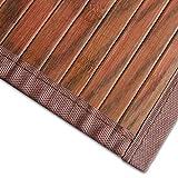 casa pura Bambusteppich Magenta (Braun) | für Bad und Wohnzimmer | natürlich wohnen Bambus | Bambusmatte in vielen Größen (120x180 cm)