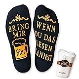 Vertvie Unisex Socken Baumwolle lustige fun Bier Geschenk für Männer Frauen Geburtstagsgeschenk für Freund Freundin Mama Schwester zum Weihnachten Wein Kaffee Socken (One Size, E-Schwarz)