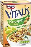 Dr. Oetker Vitalis Knuspermüsli klassisch: Knuspriges Frühstücksmüsli mit Rosinen, 1er Packung, 600g