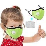 ZHX 1 Stück Kinder Atmungsaktive Mundmasken Schutztuch Gesichtsschutz Schutzhülle Outdoor Schutztuch staubdicht Winddicht Mund Schal für die persönliche Gesundheit Einstellbar Sportmaske (GN)