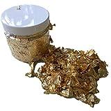 GOLDFLOCKEN Dose 200ml – Blattmetall Gold Blattgold Flakes/Bastel Zubehör für Scrapbooking, Dekorieren, Verzieren, zum Basteln