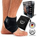 LUMINARY FOR YOU Fußbandage mit der Besonderheit - Elastischen Überkreuz-Zuggurten. Die Einzigartige Sprunggelenkbandage bei Verletzungen, Knöchelbandage bei Verstauchungen und bei anderen Sportarten