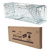 D4P Display4top Große Marderfalle, einfach zu fangen | Wetterfeste, robuste Lebendfalle | Falle für Marder, Katze | Lebend Kaninchenfalle Katzenfalle, Marderfallen (61 x 18 x 21cm)