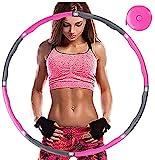 Aoweika Fitness Exercise Hoop zur Gewichtsreduktion,Reifen mit Schaumstoff ca 0,92 kg mit Mini Bandmaß, Einstellbares Gewicht 0,75 bis 0,92 kg beschwerter